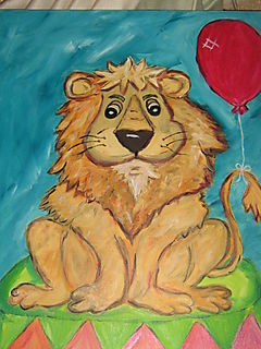 Circus lion 004